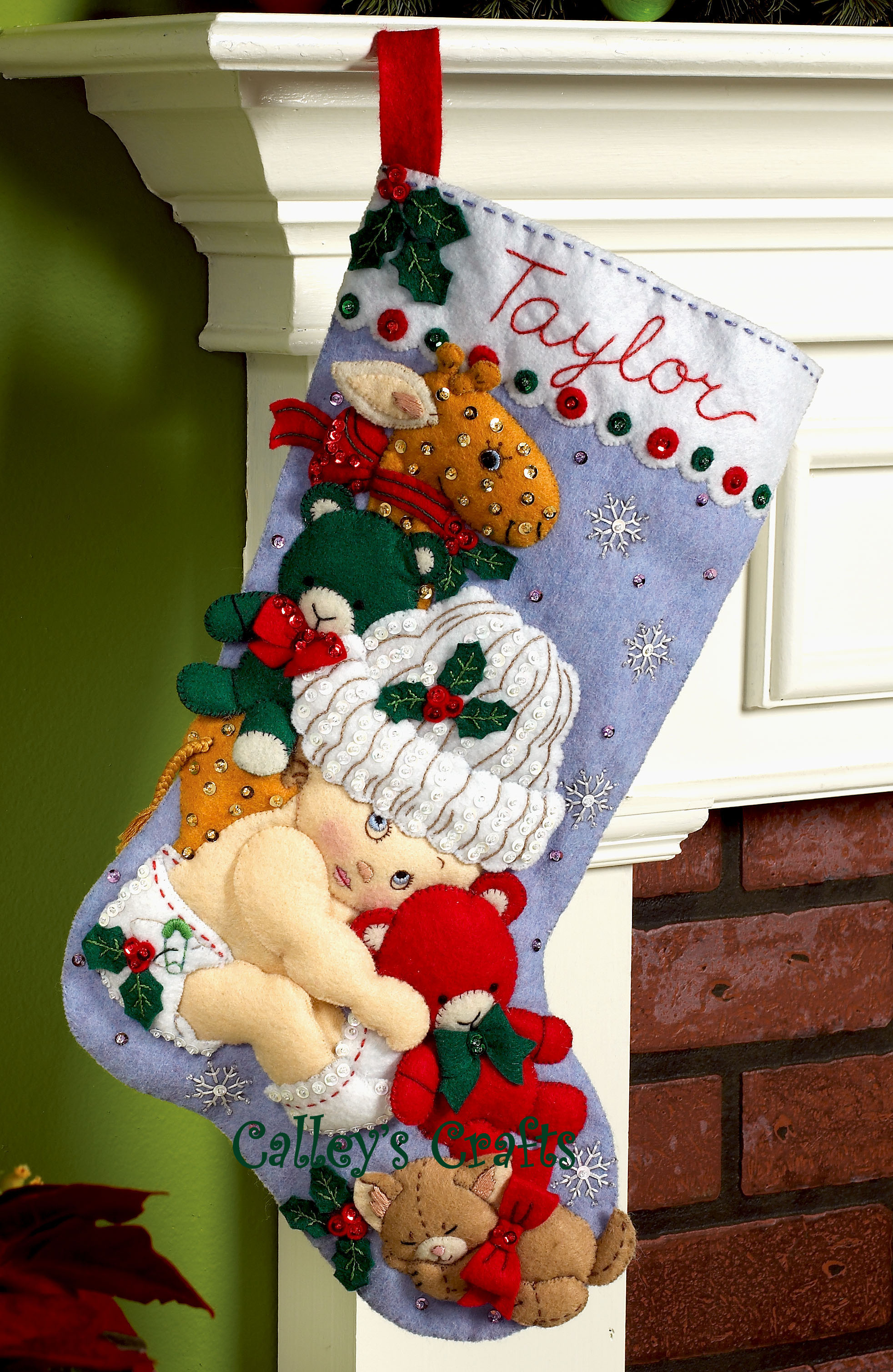 Babys First Christmas Cross S Ch Stocking