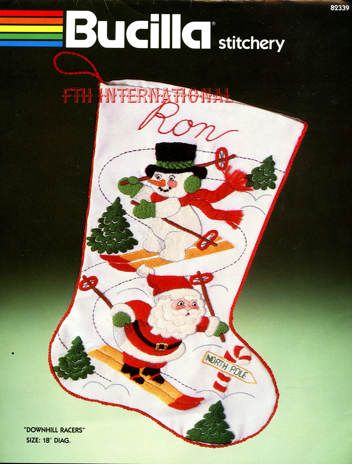 Bucilla Crewel Christmas Stocking Kits