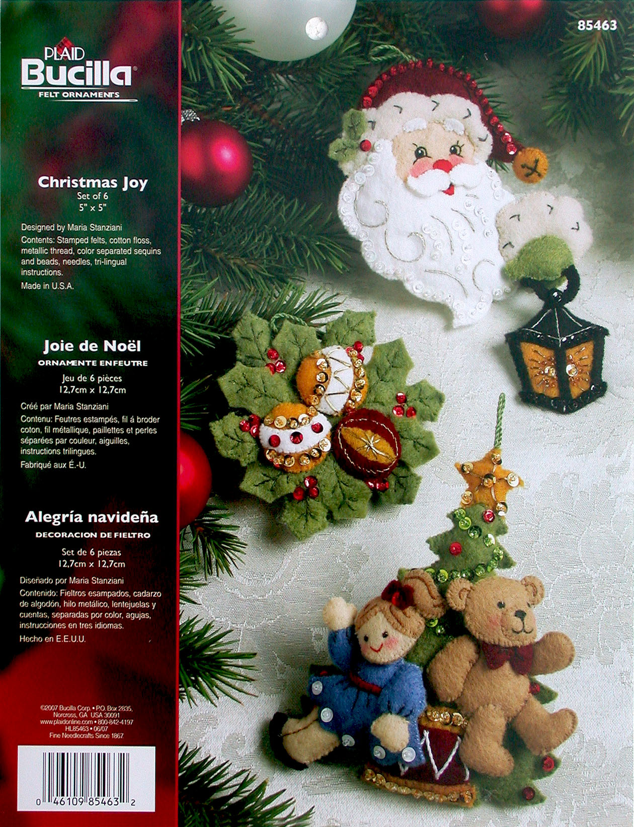 Christmas felt ornaments - 85463 Christmas Joy Ornament Kit