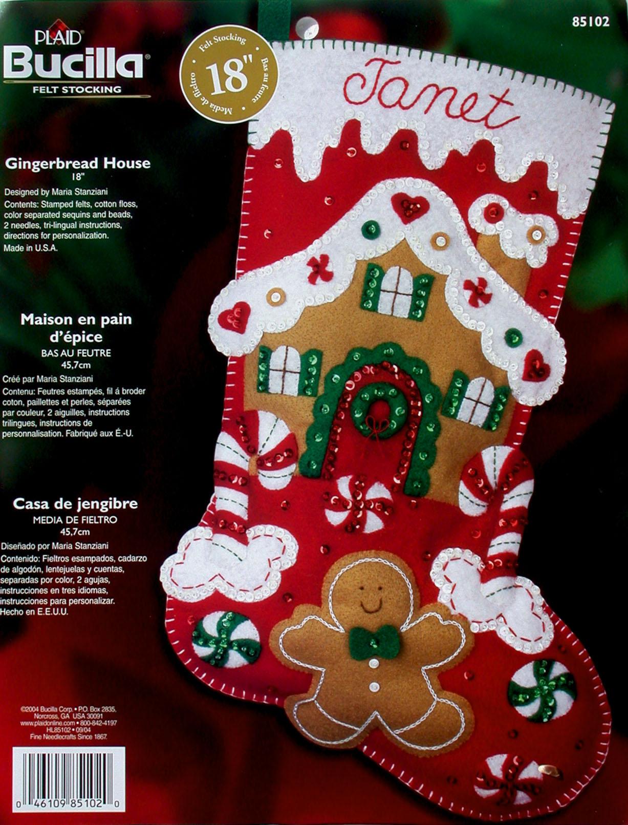 Cross Stitch Christmas Stocking Kit