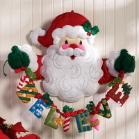 Bucilla Felt Christmas Home Decor Kits