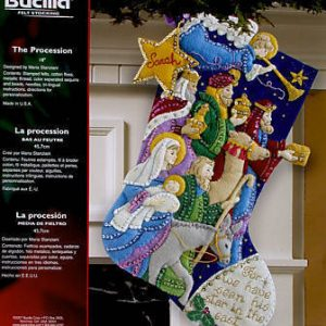Vintage & Discontinued Bucilla Christmas Felt & Cross Stitch Kits