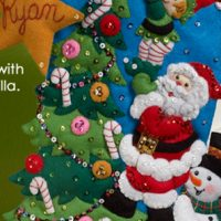Bucilla Christmas Felt Applique Kits