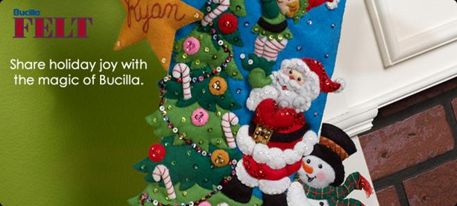 Bucilla Christmas Felt Applique Kits