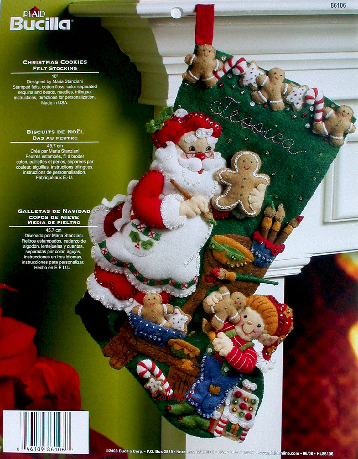 Christmas Cookies 18 Bucilla Felt Christmas Stocking Kit 86106
