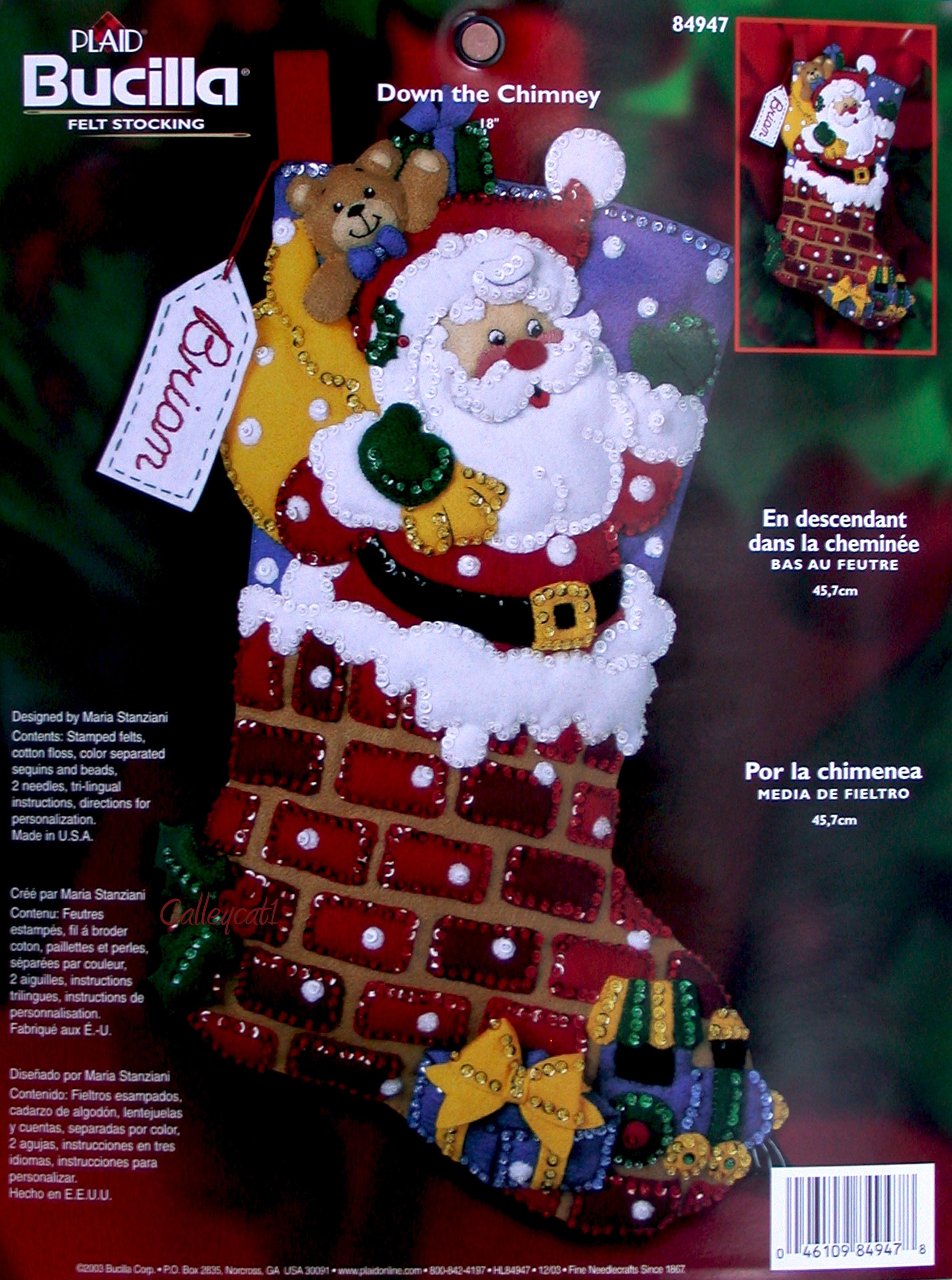 Felt Applique Christmas Stocking Kits