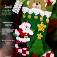 Teddy With Ornaments 85174 - 3797Cwm