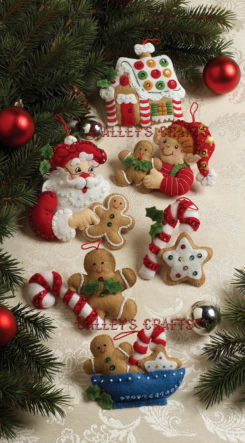 Christmas felt ornaments - Christmas