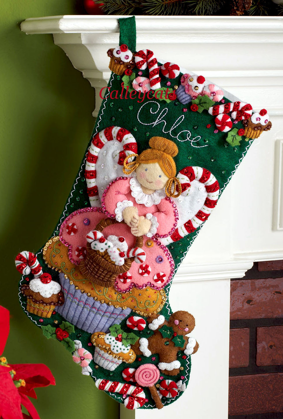 Felt Applique Christmas Stockings