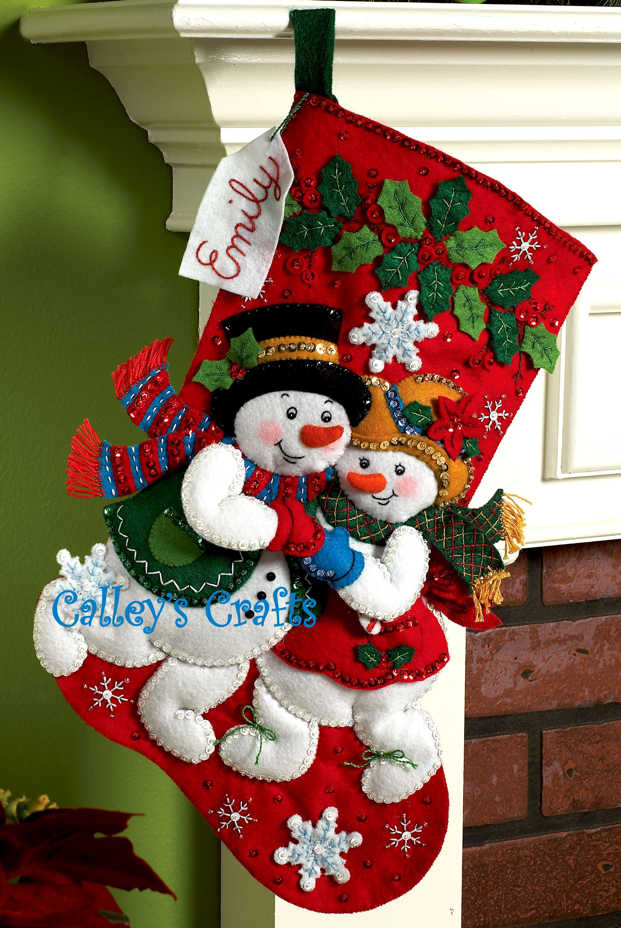 Felt Christmas Stocking Kits Bucilla