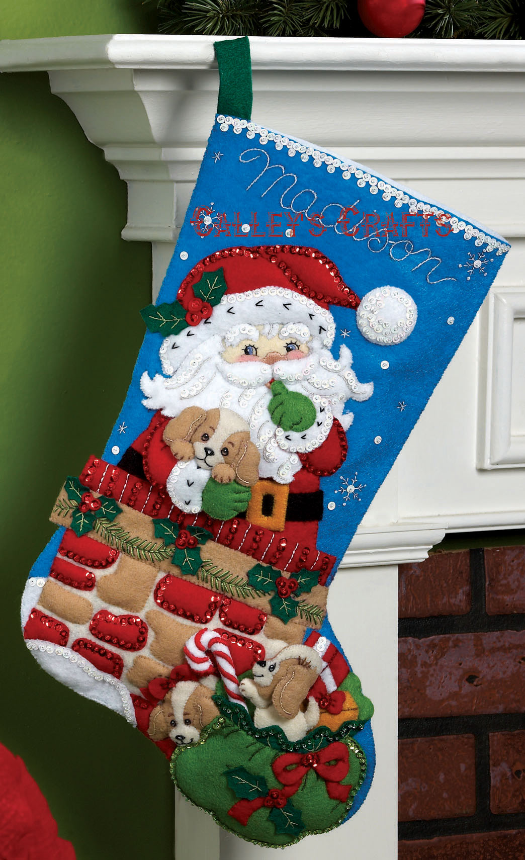 Christmas Stocking Kit.Santa S Secret 18 Bucilla Felt Christmas Stocking Kit 86280