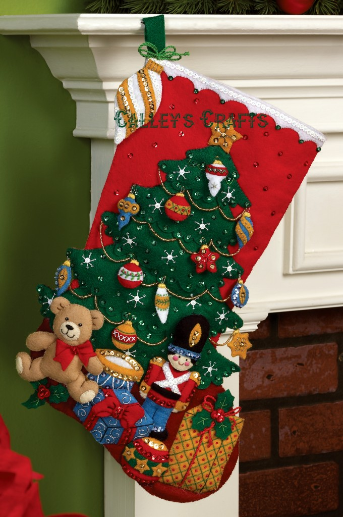 Under The Tree 18 Quot Bucilla Felt Christmas Stocking Kit