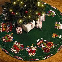 Bucilla Candy Express Tree Skirt kit
