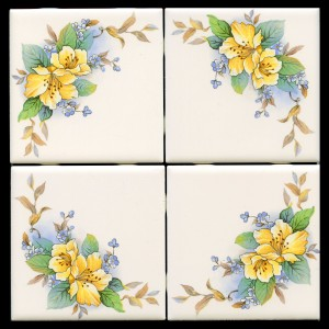 F43CF4 frame B13 E689Y Yellow Flower Mural & Accent Tiles 4  img665