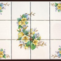 Ceramic Tile Murals with Matching Accent Tiles
