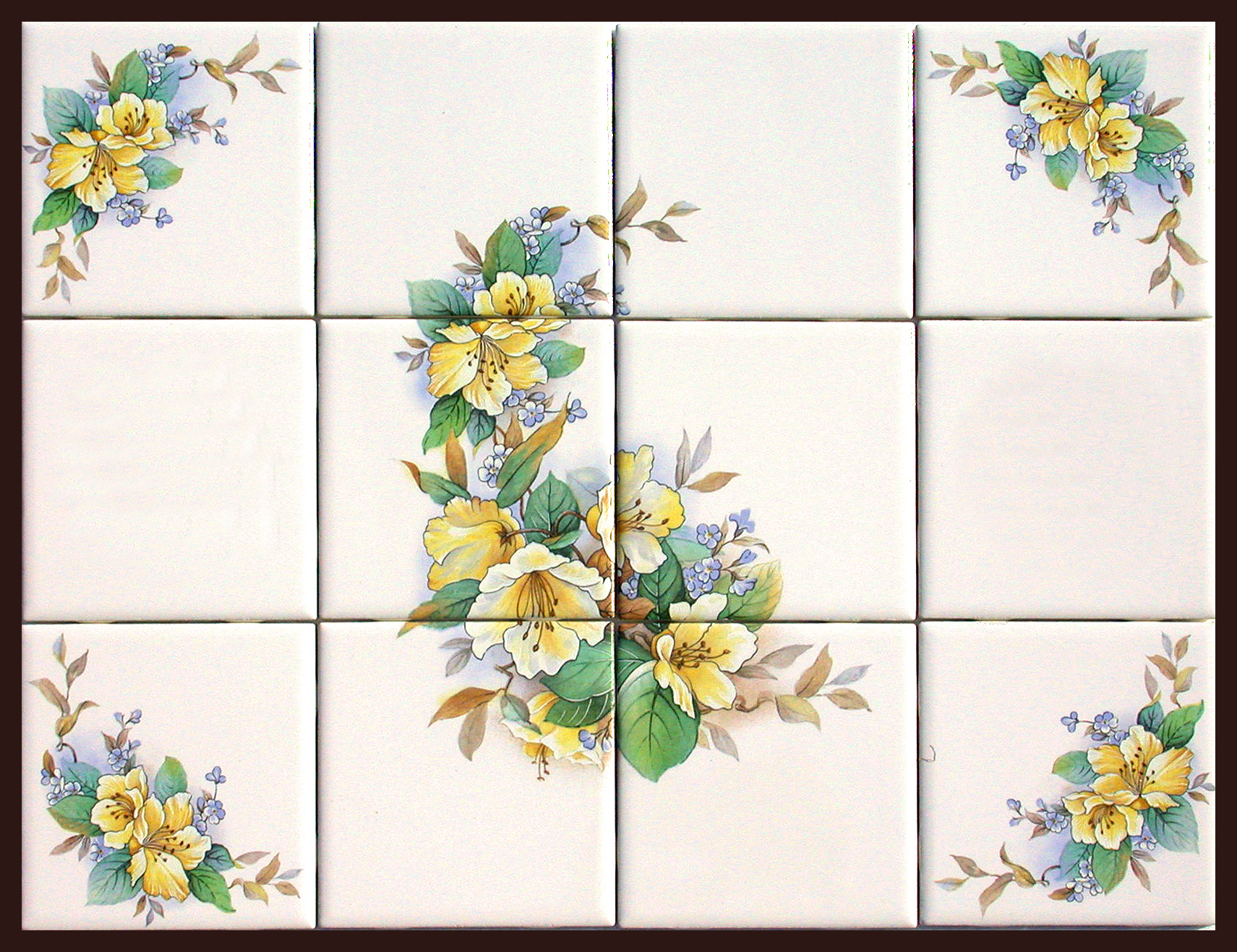 Ceramic murals accent tiles fth international sales ltd for Ceramic mural tiles