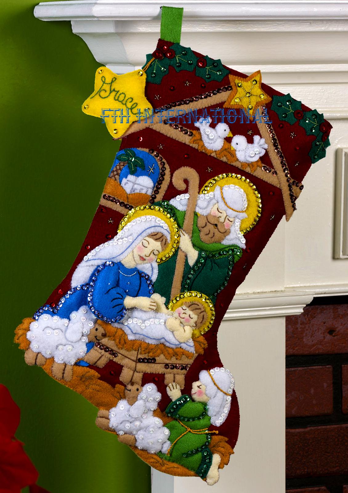 Vintage Bucilla Christmas Stocking Kits