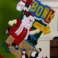 86452 bowling Santa penguins 1CFRwm