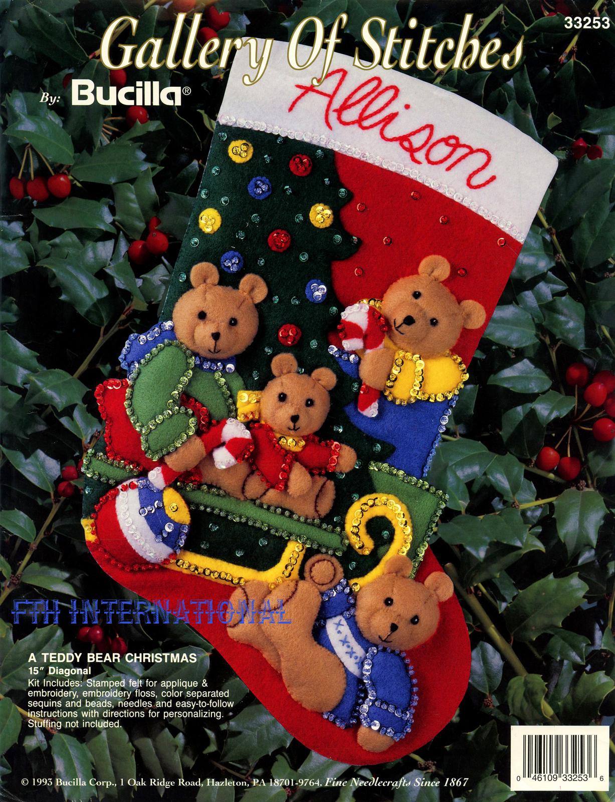 description bucilla a teddy bear christmas