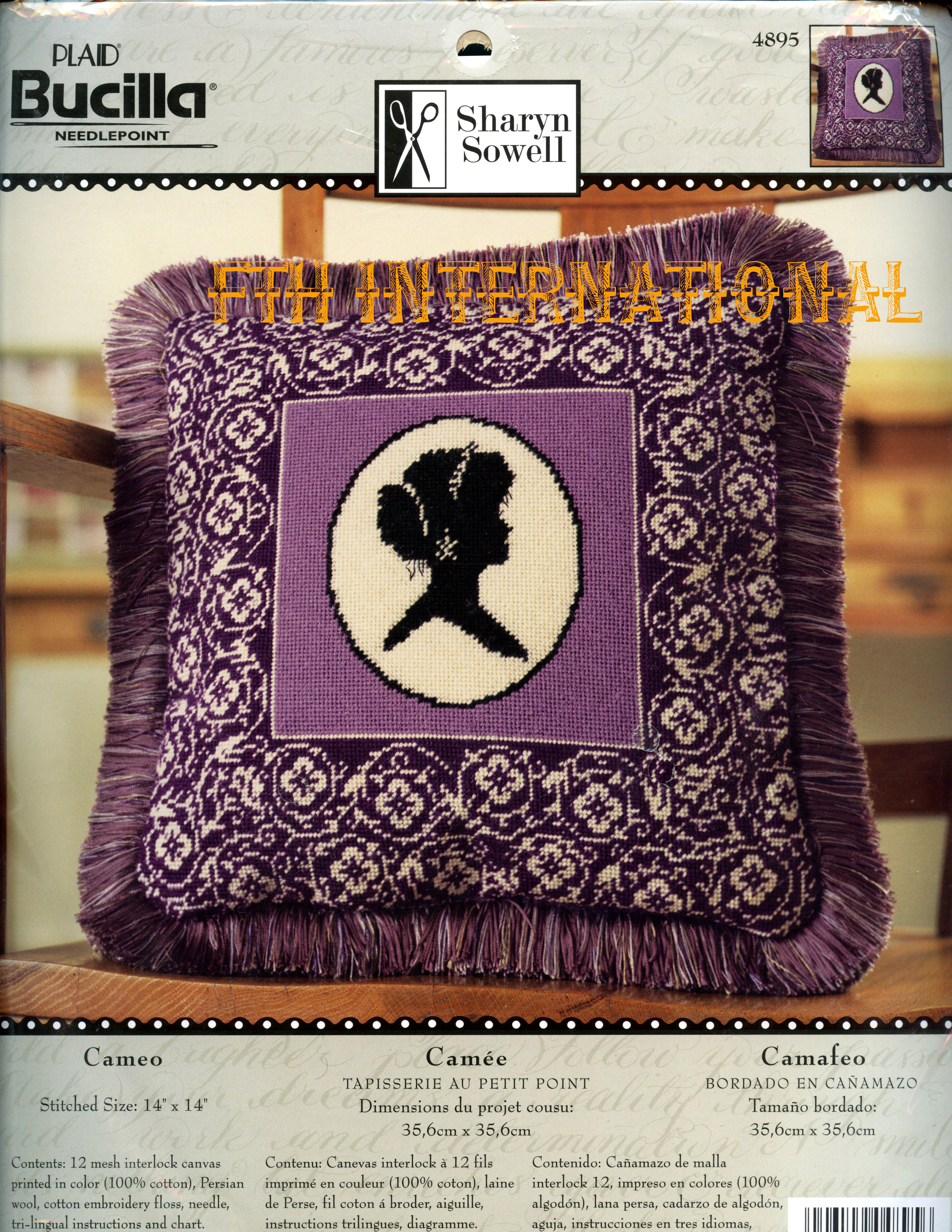 Cameo Pillow Bucilla Needlepoint Picture Kit 4895 Fth