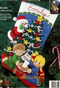 Bucilla Cookies For Santa 18 Quot Felt Christmas Stocking Kit
