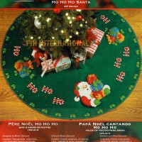 86168FCWM1R Ho Ho Ho Santa Tree Skirt Kit CCI09012014