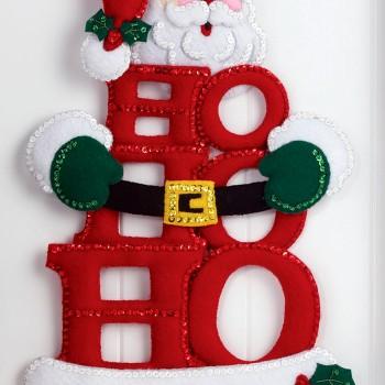 Wall Hanging Kit ho ho ho santa bucilla felt christmas wall hanging kit #86421