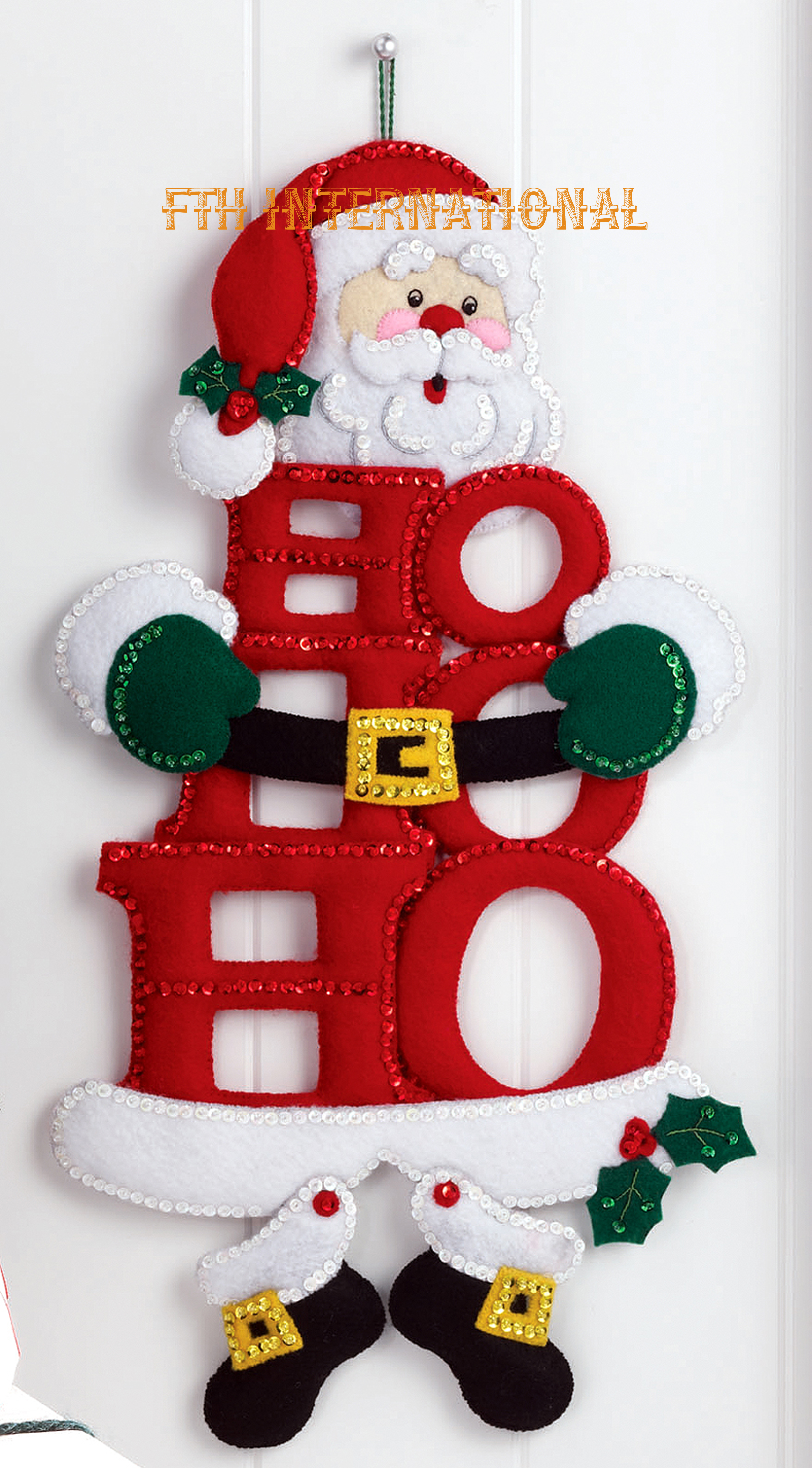 HO HO Ho Santa Bucilla Felt Christmas Wall Hanging Kit