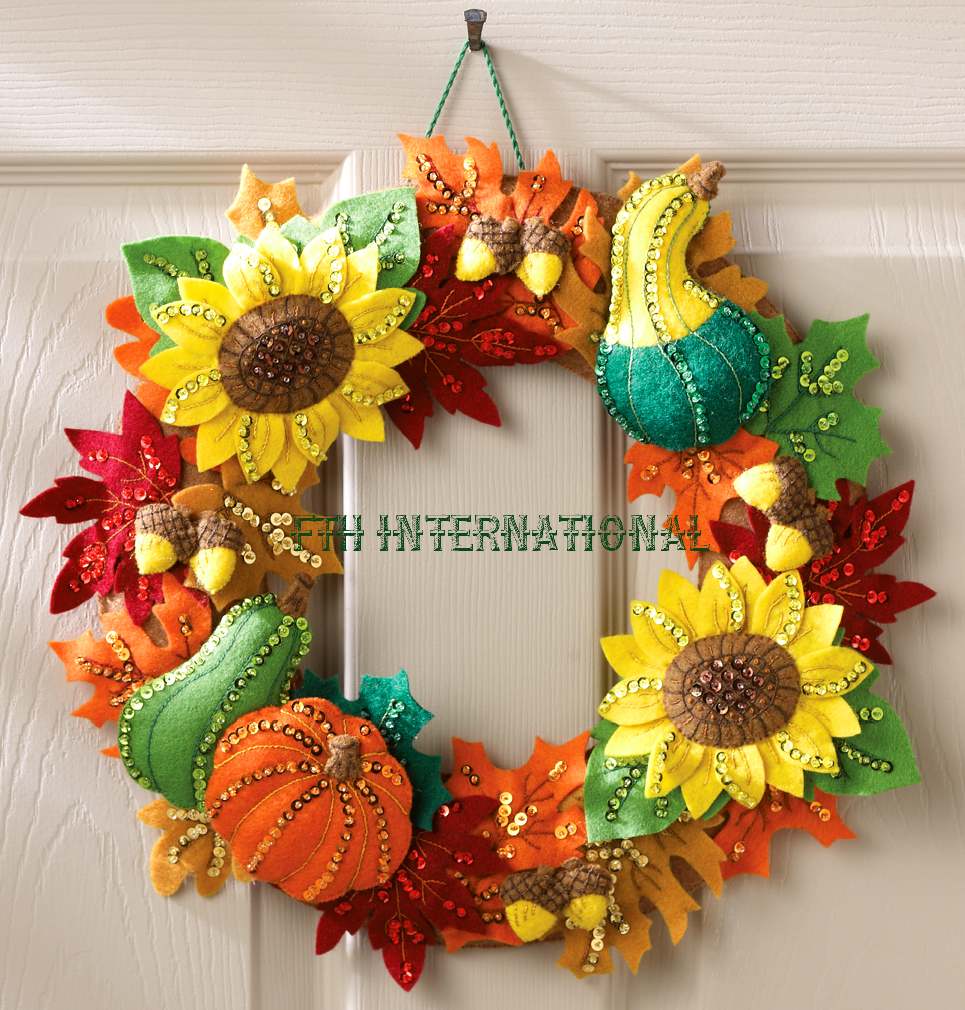 harvest time wreath bucilla felt christmas home decor kit 86428