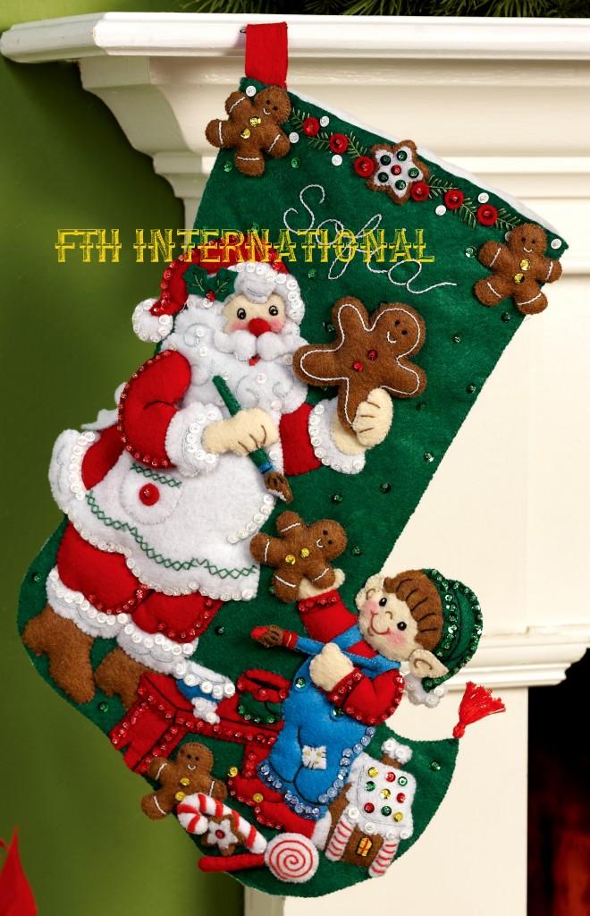 Gingerbread Santa 16 Quot Bucilla 2013 Special Release Felt