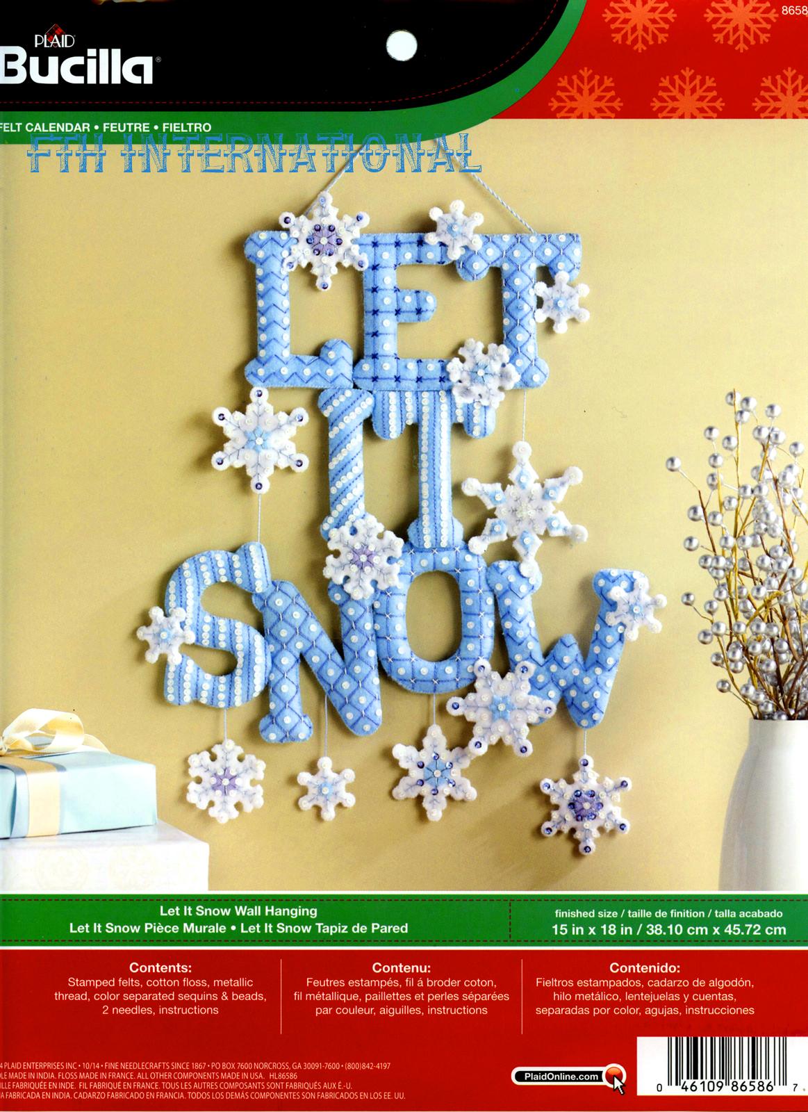 Let It Snow Bucilla Felt Fall Home Decor Kit # 86586 - FTH ...