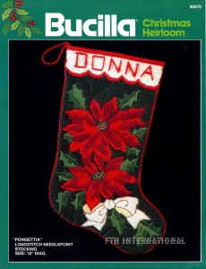 60670FCWM1 Poinsettia Longstitch Needlepoint img901