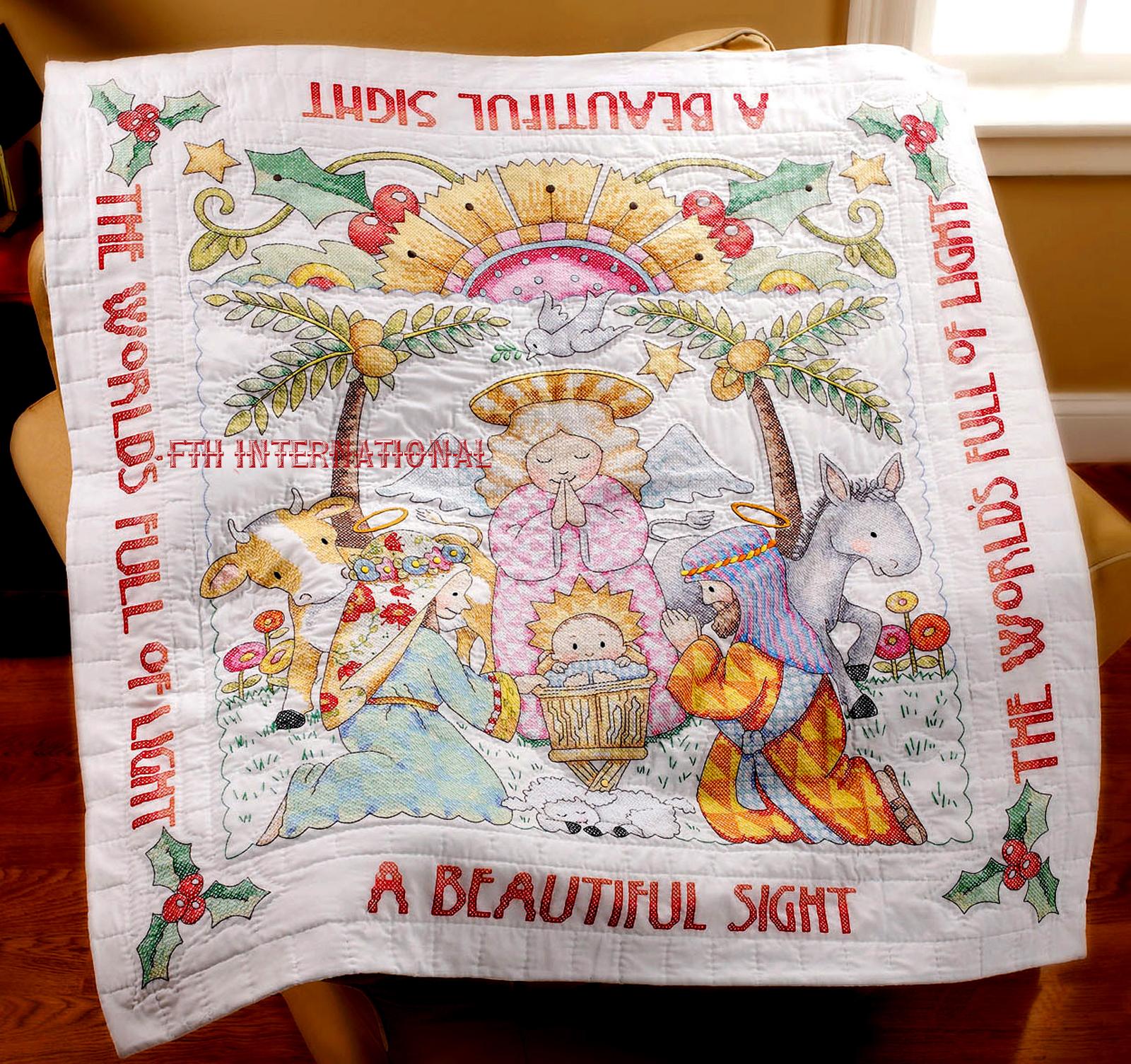 Beautiful Sight Bucilla Stamped Cross Stitch Kit #86192 - FTH International Sales Ltd.