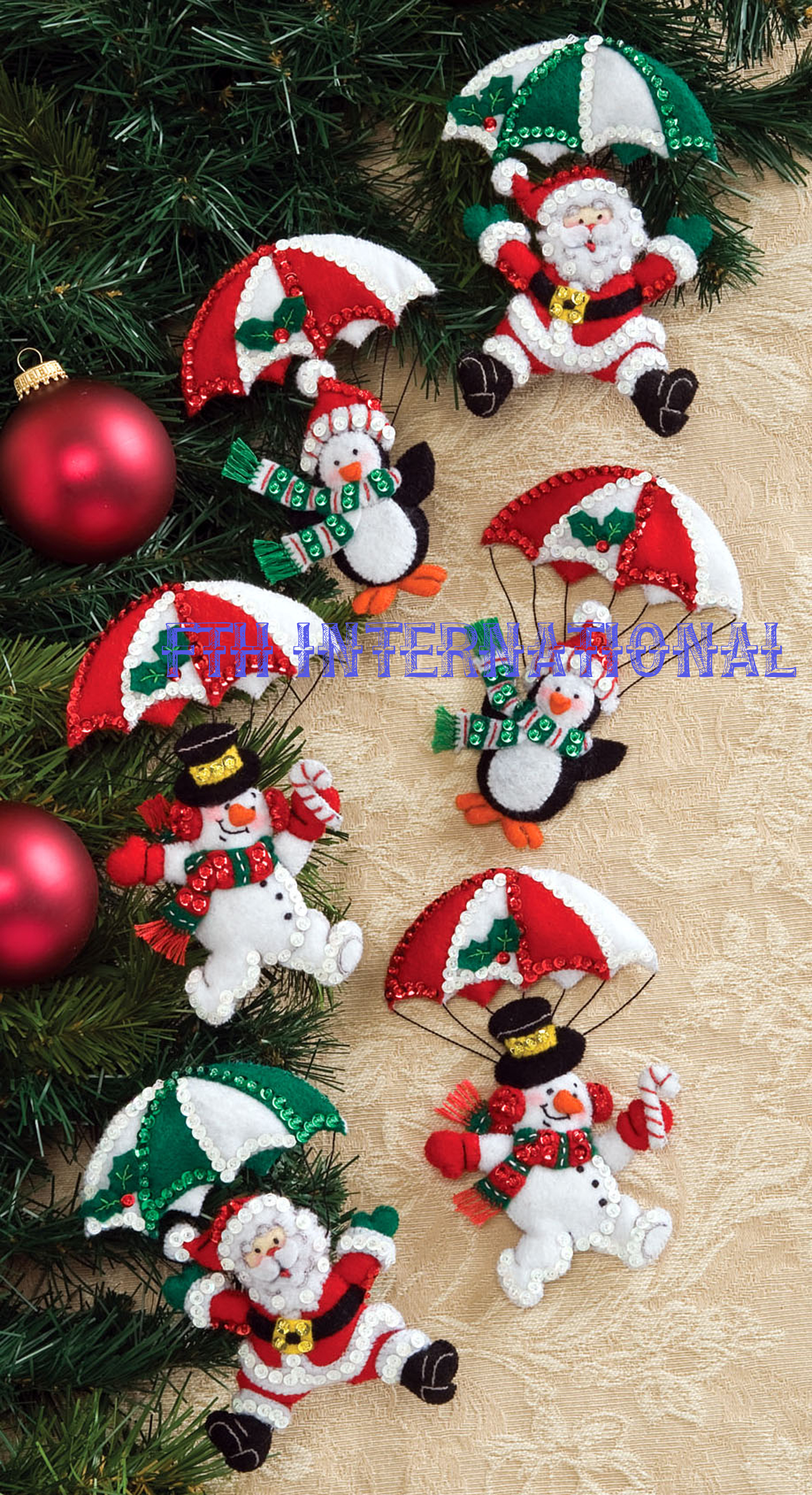 12 Days of Christmas Bucilla Felt Ornament Kit #86066 ...