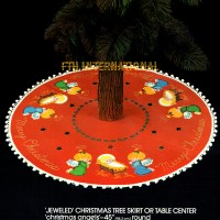 48772FCWMR1 Christmas Angels Tree Skirt Front