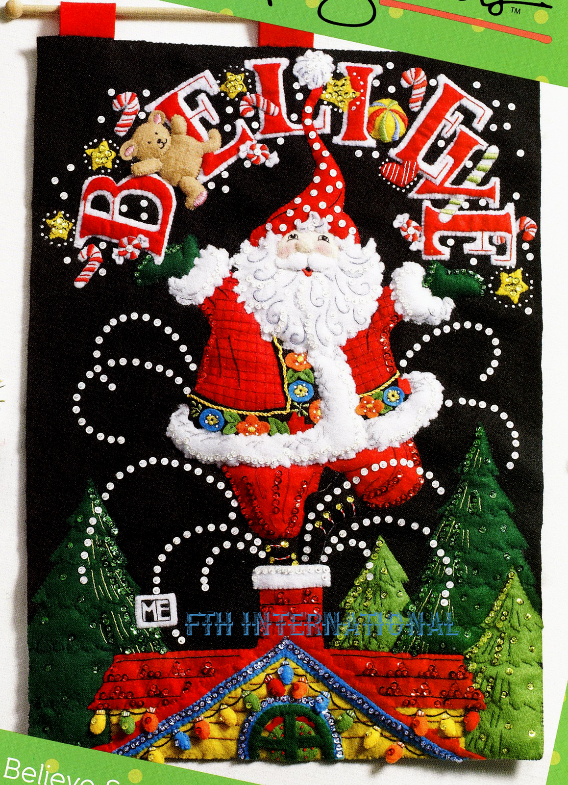 Believe Santa Bucilla Felt Christmas Wall Hanging Kit