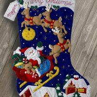 86740FCWMR2 Christmas Night Jumbo Stocking