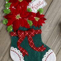 86705FCWMR2 Christmas Poinsettia