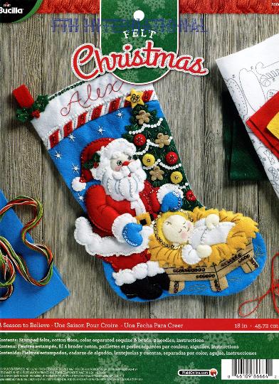 Bucilla a season to believe quot felt christmas stocking