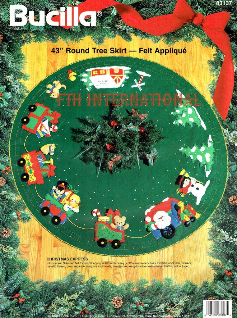 Bucilla Christmas Express 43 Quot Felt Tree Skirt Kit 83137