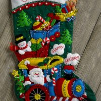 "Bucilla Christmas Baby ~ 18/"" Felt Stocking Kit #86819 Birth Ornament Sleigh"