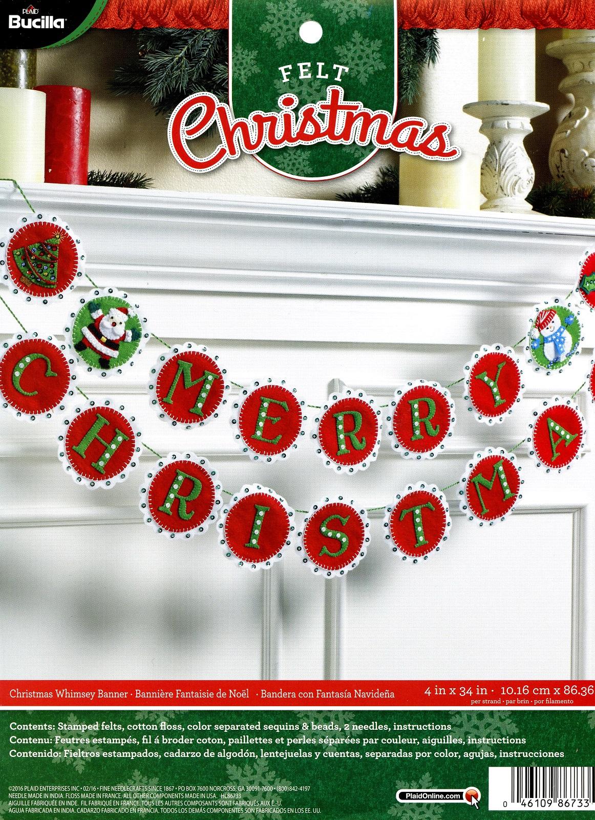 12 Days Of Christmas Bucilla Felt Ornament Kit 86066